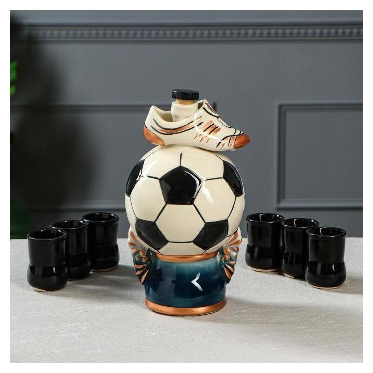 """Набор для вина """"Мяч"""" 7 предметов, 1 л  Керамика ручной работы"""