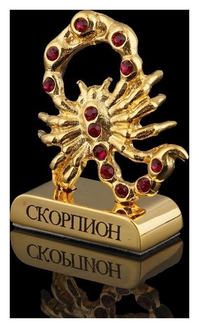 Сувенир знак зодиака «Скорпион», 5×2×5 см, с кристаллами сваровски Swarovski