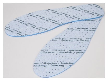 Стельки для обуви, универсальные, дышащие, с антибактериальным покрытием, 36-46 р-р, пара, цвет голубой  Onlitop