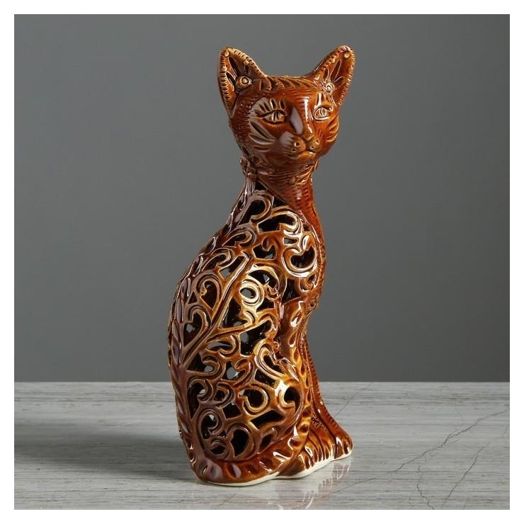 """Статуэтка """"Кот"""", резка, 23 см  Керамика ручной работы"""