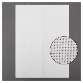 Канва для вышивания, №14, 30 × 40 см, цвет белый  Гамма