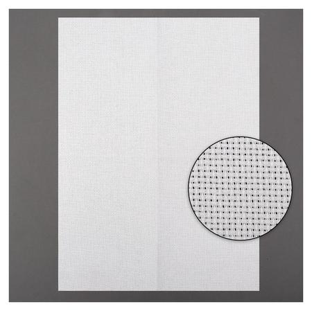 Канва для вышивания, №14, 30 × 40 см, цвет белый  Gamma