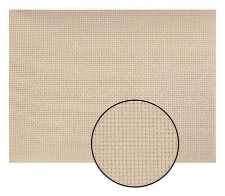 Канва для вышивания, №14, 30 × 40 см, цвет бежевый  Gamma
