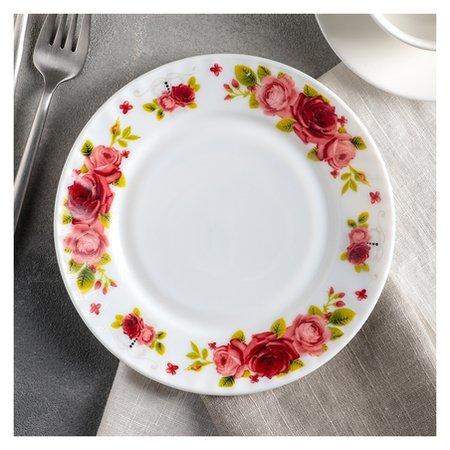 Тарелка десертная «Поэзия роз», 17,5 см  Доляна