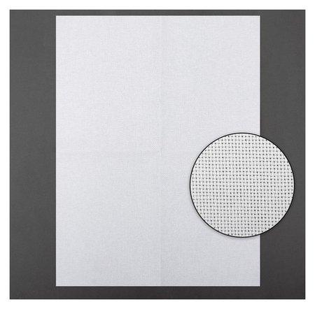 Канва для вышивания, №18, 30 × 40 см, цвет белый  Gamma