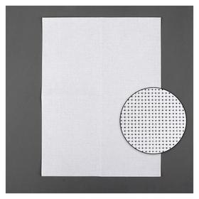 Канва для вышивания, №11, 30 × 40 см, цвет белый  Гамма