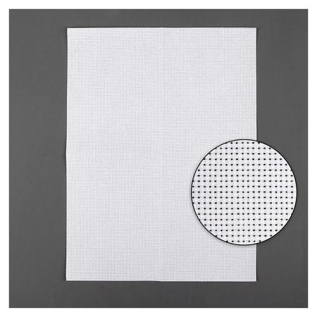 Канва для вышивания, №11, 30 × 40 см, цвет белый  Gamma