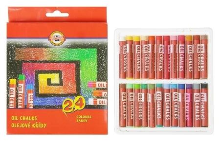 Пастель масляная 24 цветов, Koh-i-noor 8314, картонная упаковка, европодвес  Koh-i-noor