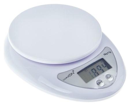 Весы кухонные Luazon Lvk-501, электронные, до 5 кг, белые  LuazON