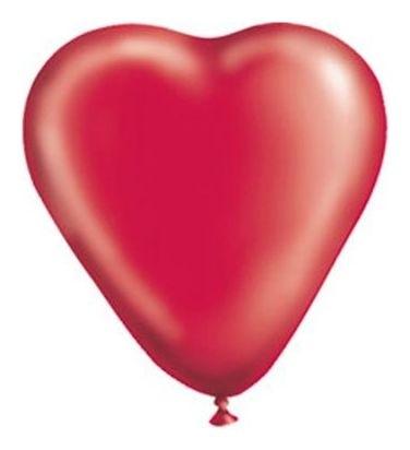 """Шар латексный 10"""" «Сердце», кристалл, набор 50 шт., цвет красный  Gemar"""
