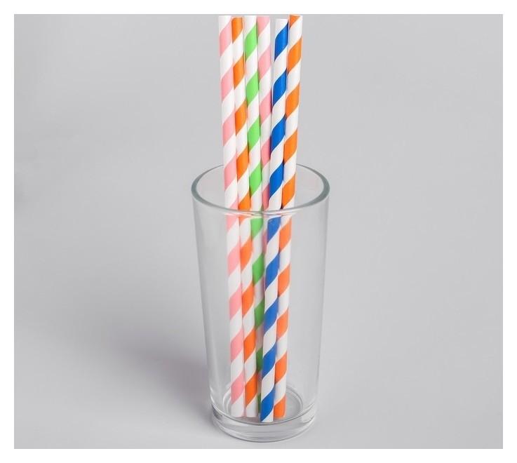 Трубочка для коктейля «Спиралька», набор 6 шт.  Страна Карнавалия