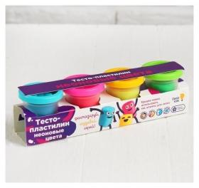 Тесто-пластилин, неоновые цвета  Genio Kids