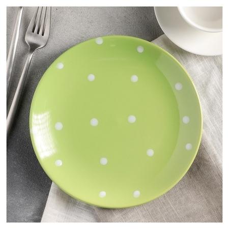 Тарелка десертная «Зелёный горох», 19 см  Доляна