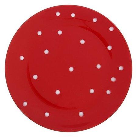 Тарелка обеденная «Красный горох», 27 см