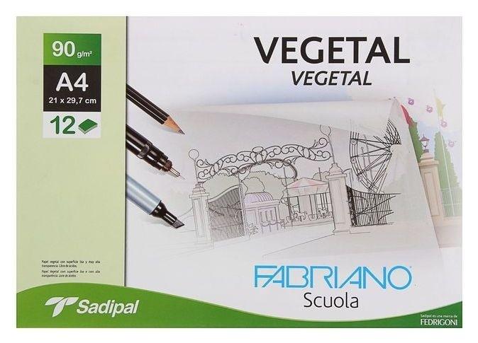 Калька для художественных работ, А4, 210 х 297 мм, Fabriano, 12 листов, 90 г/м2 конверт  Sadipal