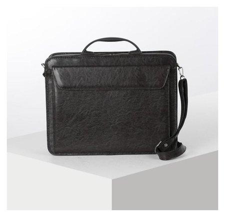 Сумка-портфель мужская на молнии, 3 отдела, наружный карман, длинный ремень, цвет коричневый  Алекс