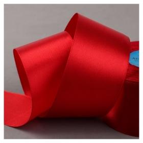 Лента атласная, 50 мм × 33 ± 2 м, цвет красный №065  Гамма