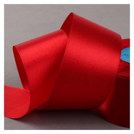 Лента атласная, 50 мм × 33 ± 2 м, цвет красный №065  Gamma