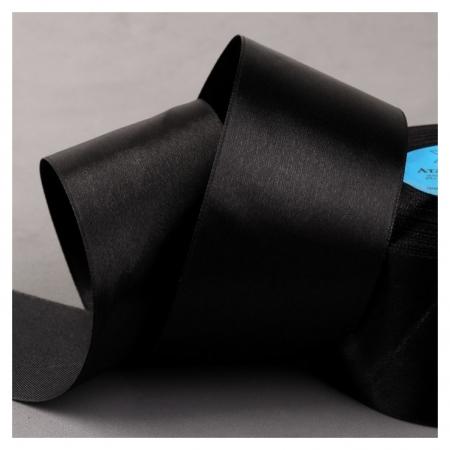 Лента атласная, 50 мм × 33 ± 2 м, цвет чёрный №113  Gamma