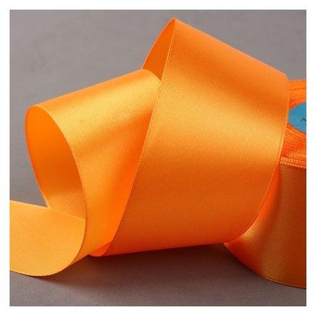 Лента атласная, 50 мм × 33 ± 2 м, цвет оранжевый №021  Gamma
