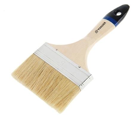 """Кисть плоская Tundra, натуральная щетина, деревянная ручка, 5"""", 125 мм  Tundra"""