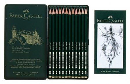 Набор карандашей чернографитных разной твердости Castell  Faber-castell