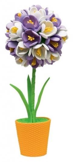 """Набор для творчества топиарий малый """"Крокусы"""", фиолетовый/белый  Волшебная мастерская"""