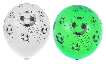 """Шар латексный 14"""" «Футбольный мяч», шелкография, пастель, набор 25 шт.  Belbal"""