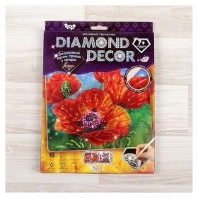 "Набор для создания мозаики ""Маки"" Diamond Decor, планшетка без рамки  Danko toys"