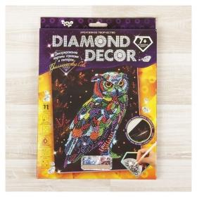 "Набор для создания мозаики ""Бриллиантовая сова"" Diamond Decor, планшетка без рамки  Danko toys"