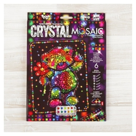Набор для создания мозаики «Медвежонок» серии Crystal Mosaic, на тёмном фоне  Danko toys