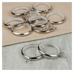 Кольцо для карниза, D = 36/48 мм, 10 шт, цвет серебряный  Арт узор