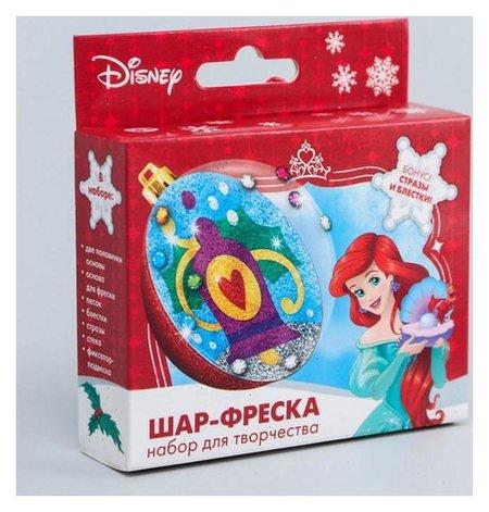 """Новогодний ёлочный шар с фреской """"С новым годом!"""" принцессы: ариэль  Disney"""