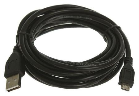 Кабель Cablexpert, Micro USB - Usb, 1 А, 3 м, чёрный  Cablexpert
