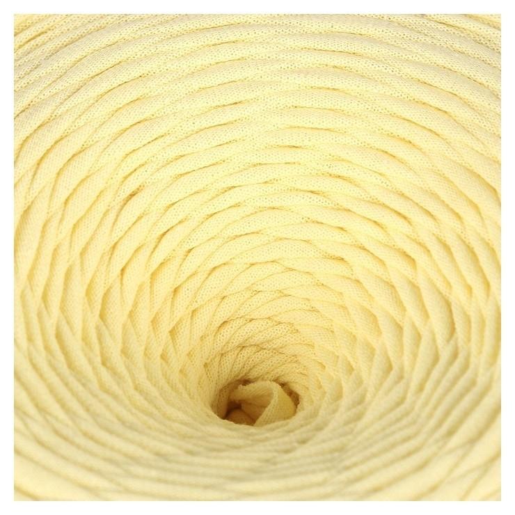 Пряжа трикотажная широкая 100м/350гр, ширина нити 7-8 мм (Св.желтый)  Елена и Ко