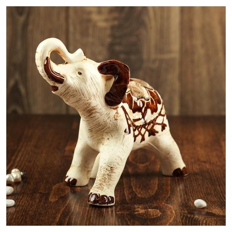 """Статуэтка """"Слон"""" бежевый, 18 см  Керамика ручной работы"""