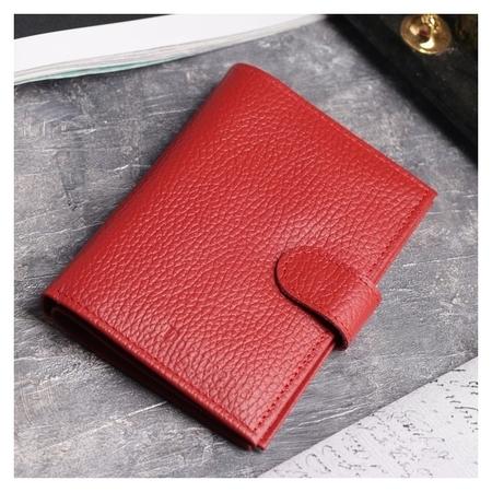 Обложка для автодокументов и паспорта, 5 карманов для карт, цвет красный  Cayman