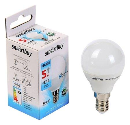 Лампа Cветодиодная Smartbuy, P45, E14, 5 Вт, 4000 К, холодный свет  Smartbuy