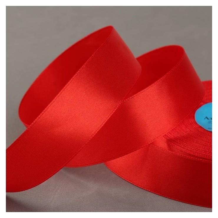 Лента атласная, 25 мм × 33 ± 2 м, цвет красный №111  Gamma