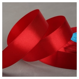 Лента атласная, 25 мм × 33 ± 2 м, цвет тёмно-красный №112  Гамма