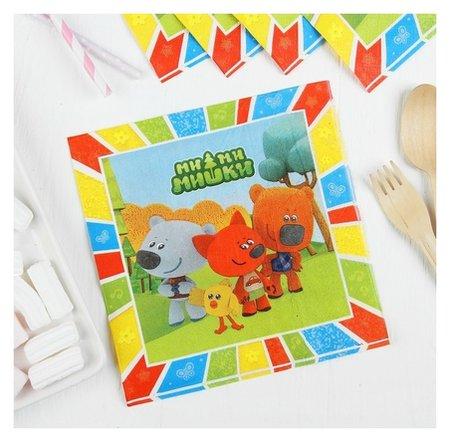 Салфетки бумажные «Ми-ми-мишки», набор 12 шт., 33х33 см  Веселуха
