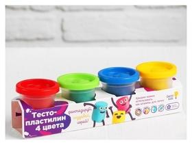 Набор для детского творчества «Тесто-пластилин, 4 цвета»  Genio Kids