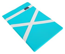 Защита спины гимнастическая (Подушка для растяжки) лайкра, морская волна, 38 х 25 см, (пл-9322)