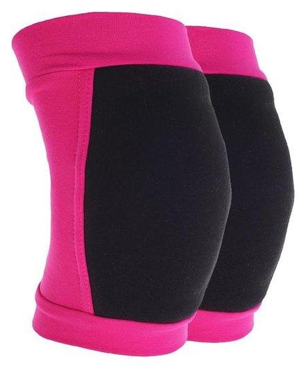 Наколенники для гимнастики и танцев (С уплотненной чашкой), размер S (7-10лет), цвет фуксия/чёрный  Grace dance