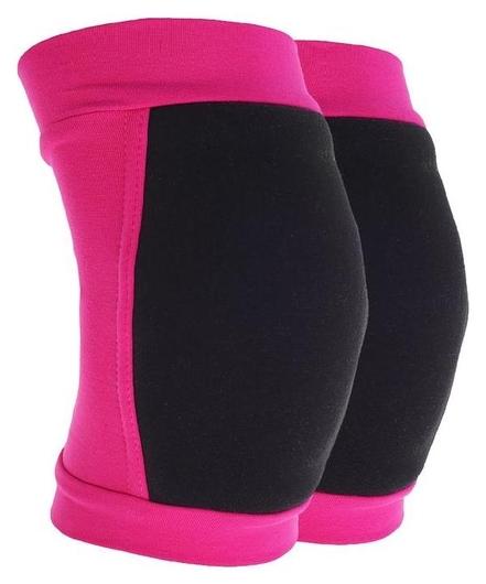 Наколенники для гимнастики и танцев (С уплотненной чашкой), размер XXS (3-5 лет), цвет фуксия/чёрный Grace dance
