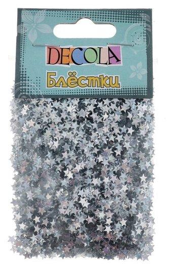 Декор блёстки ЗХК Decola 0.4 мм, 20 г, серебро радужное  Невская палитра