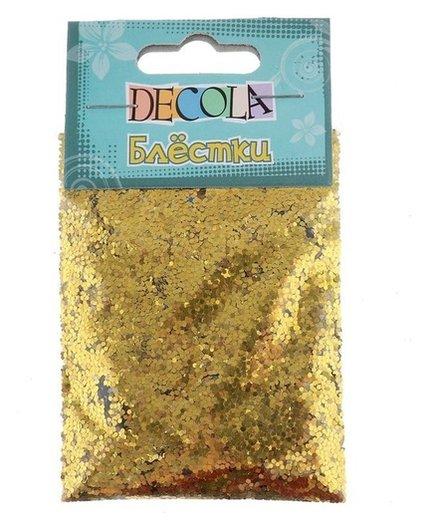 Декор блёстки ЗХК Decola 0.1 мм, 20 г, золото майя  Невская палитра
