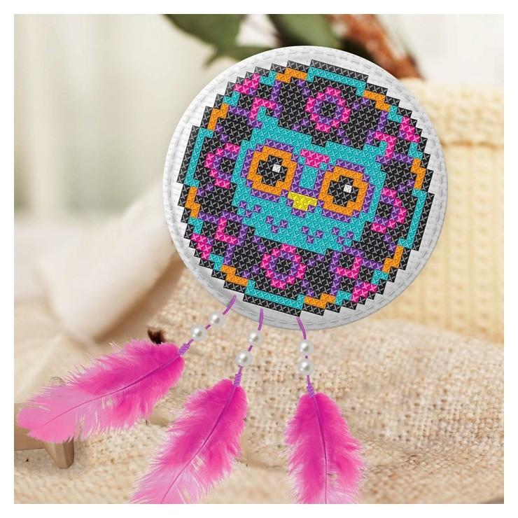 Вышивка крестиком, игрушка «Волшебная сова». набор для творчества  Школа талантов