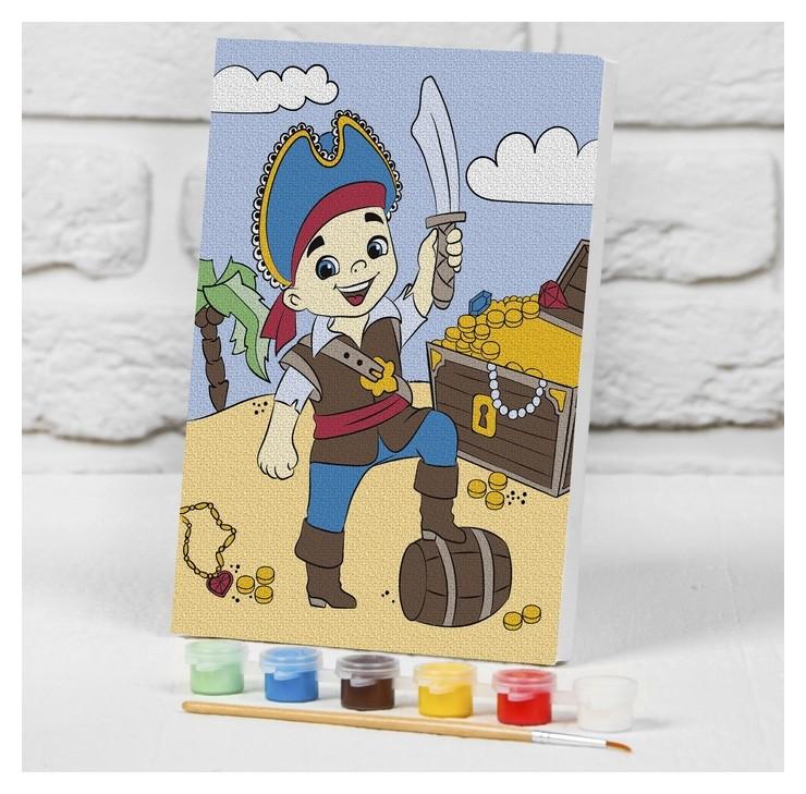 Картина по номерам на подрамнике «Пират с сокровищами» 21×15 см Школа талантов