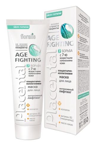 Age-Fighting Плацентарно-коллагеновая маска для лица  Floralis